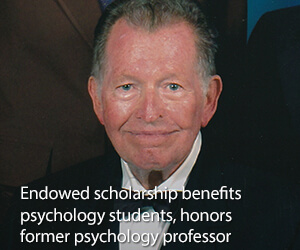 Endowed scholarship benefits psychology students
