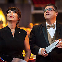 Kim Ruiz Beck and President Castro